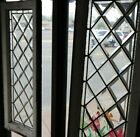 Pair Antique Window Divided Glass Shabby Cottage Chic c1895 +Frame