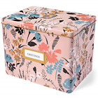 Jot  Mark Greeting Card Organizer Tin Box with Dividers Cards and Envelopes