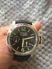 40 MM Black Seagull Power Reserve Military Date Watch