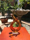 Murano Glassware Figural Amber Abstract 13 Tall w Original Sticker