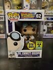 Funko Pop Back to the Future Dr. Emmett Brown #62 Glow GITD Convention Exclusive