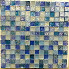 ASLG 1 ACOUSTIC BLUE 1x1 Glass Mosaic Tile  15 SHEETS OF CLEARANCE SALE