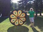 Large 6 Diameter Round Stained Glass Catholic Church Window 72 From 1800s