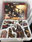Kirkland Christmas NATIVITY Mary Joseph Costco 12 Set Porcelain SET Wood Creche