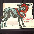 Antique Donkey Saalfield Publications Pin The Tail On The Donkey Never Used 1926