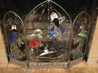 Stained Glass Nativity Fireplace Screen
