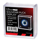 Ultra Pro Square Hockey Puck Display Case Stackable Cube Holder Souvenir Pucks