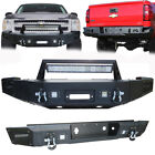 Vijay Front And Rear Bumper With Winch Plate For 2007-2013 Chevy Silverado 1500