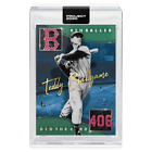 Topps PROJECT 2020 Card 229 - 1954 Ted Williams by Ben Baller -Presale-