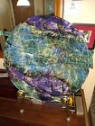 Spectacular Fused Glass Large Bowl artist signed