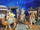 Fontanini THREE KINGS on Animals Nativity Set Wisemen 5 Heirloom Collection