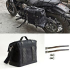 Black Motorcycle Storage Bag Side Luggage Bag Tail Bag Scooter Moped Universal