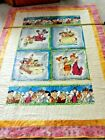 Handmade 54 x 74 Flintstones quilt w FMG Stitch in the ditch and ties NEW