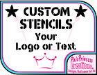 Personalised A2 Custom Stencil Reusable Mylar 190 Airbrush Crafts Paint Card