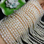 wholesale 5 6mm 10 11mm Natural Real White Freshwater Pearl Rice Loose Beads 15