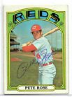 1972 Topps #559 PETE ROSE REDS - SIGNED AUTOGRAPH AUTO VINTAGE 1970S