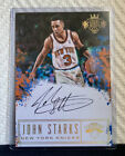 2016-17 Panini Court Kings 5x7 Box Topper Autographs #11 John Starks AUTO