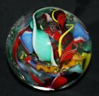 Perry Kenin Off Hand Glass paperweight signed CANDY CANE 113  275  8600