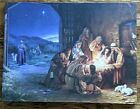 Christmas Nativity Canvas Wall Art Light of the World 24 X 18 Jesus Birth