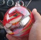 Zorza Mouth Blown Glass Christmas Ball Ornament Made In Poland