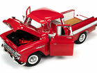 1957 CHEVROLET CAMEO PICKUP TRUCK RED  WHITE 1 18 DIECAST MODEL AUTOWORLD AW265