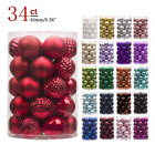 New 34ct Christmas Ball Ornament Shatterproof Decorations Tree Balls For Holiday