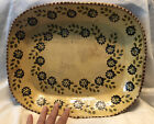Pennsylvania Redware Hand Glazed Antique Platter Bowl 15x125 RARE