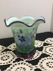 FENTON DESIGNER SHOWCASE SERIES IRIS FLIP VASE  BASE