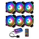 COOLMOON 12cm 6 Pin RGB PC Case Fan Chassis Cooling Radiator w Controller JT1