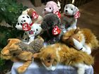 Choice : Ty Beanie BABIES Collection Stuffed Plush Dog Puppy Hologram tush tag