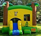 Commercial Inflatable Bounce House Tropical Combo Slide 15 HP Blower 100 PVC