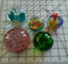 VINTAGE GLASS PAPERWEIGHTS MAYBE MURANO  FIVE PAPERWEIGHTS