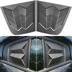 For Dodge Charger 2011 2020 Side Window Louver Windshield Sun Shade Cover Vent