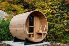 Barrel Sauna Pine Front Porch Electric Heater6 Feet Pre order Jun 5 2021