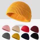 Mens Womens Warm Knitted Hat Beanie Skullcap Sailor Cap Cuff Brimless Retro Gift