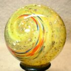 WILLIS MARBLES YELLOW MICA COLOR TWST 1 3 8 MARBLES HAND MADE GLASS MARBLE
