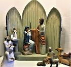 Willow Tree Christmas Story Large 24 Nativity Set Mary is signed by artist RARE