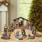 13 PC HAND PAINTED CHRISTMAS NATIVITY SET indoor Brand New In Box