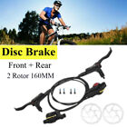 HB 875 MTB Bike Hydraulic Disc Brakes Levers FrontRear Rotor Disc Brake Set USA