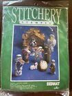 Stitchery BERNAT Nativity Scene Christmas Stamped Fabric Kit Sealed W03050 1989
