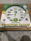 CLASSY John Deere WALL CLOCK with 12 Different Tractor Sounds on the Hour 135