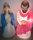 General Foam Plastics Blow Mold Plastic Joseph  Mary Outdoor Nativity Christmas