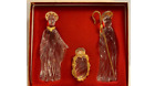 GORHAM CRYSTAL  GOLD NATIVITY SET NATIVITY FIGURES ORIGINAL BOX