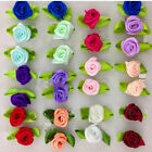 500 1000P Mini Rose Small Satin Ribbon Flowers Sewing Appliques for DIY Supplies