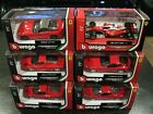 Burago Die cast 143 Ferrari Lot 6 All NIP SAVE BIG FREE SHIPPING LK