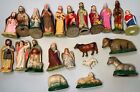 Vintage 22 Piece Nativity Set Paper Mache Japan Figures Christmas decorations