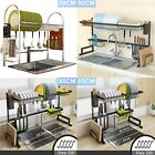Over Sink Dish Drying Rack 2 Tier Stainless Steel Kitchen Shelf Cutlery Drainer