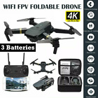 E58 Drone X Pro Wifi 4K HD Camera+3 Battery Foldable Selfie RC Quadcopter
