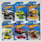 Hot Wheels HW Screen Time Lot Of 6 Cars New On Card With Treasure Hunt