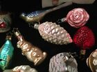 Vintage Star Cap Old World Christmas Brides Tree Ornaments Blown Glass 12pc Lot